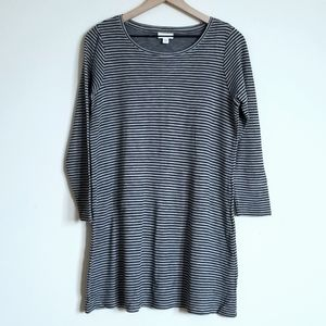 J.JILL STRIPED T-SHIRT DRESS